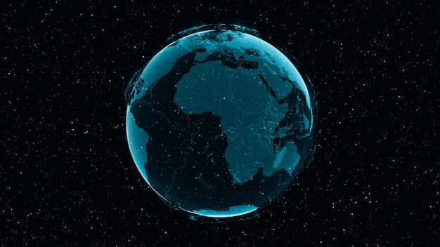 Digital earth toont concept van wereldwijd netwerk Premium Foto