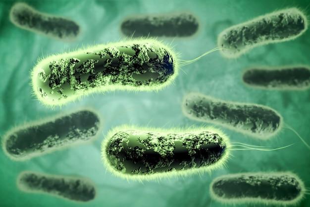 Digitale 3d illustratie van bacteriën Premium Foto