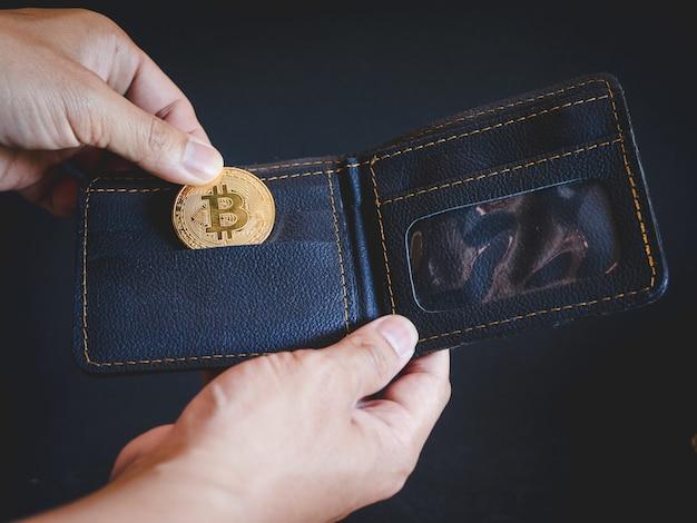 Digitale valuta bitcoin Premium Foto