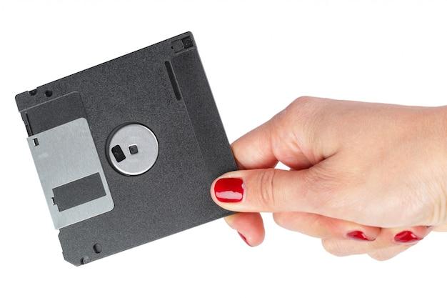 Diskette geïsoleerd Premium Foto