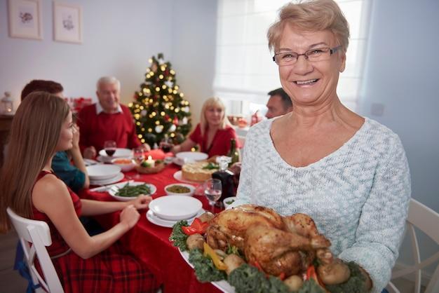 Dit is mijn spectaculaire gerecht op kerstavond Gratis Foto