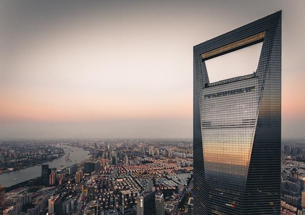 Dit shot van swfc, het 2e hoogste gebouw in shanghai Gratis Foto