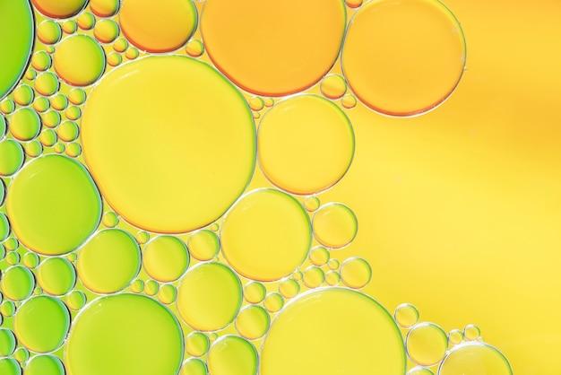 Diverse abstracte gele en groene bellentextuur Gratis Foto