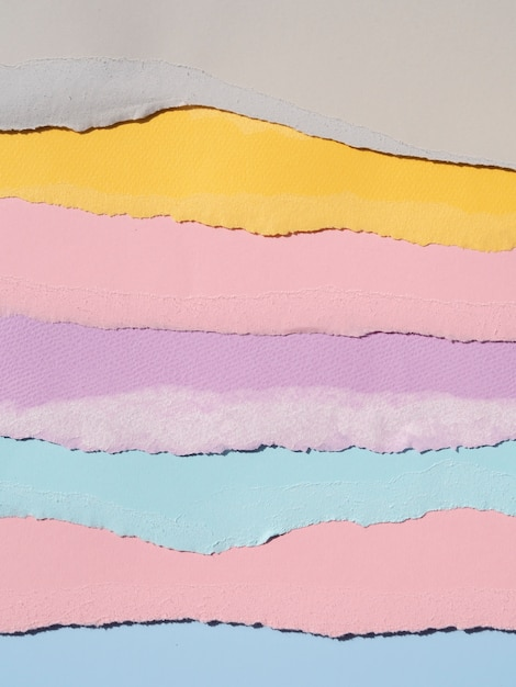 Diversiteit in gescheurde abstracte papieren lijnen Gratis Foto