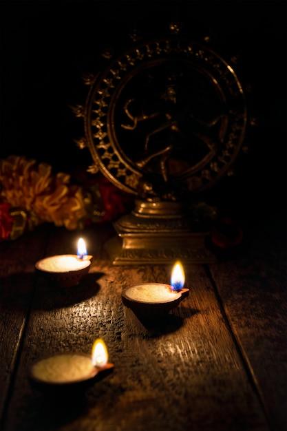 Diwali-lichten, india Premium Foto