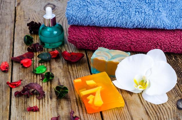 Diy handgemaakte spa zeep. Premium Foto