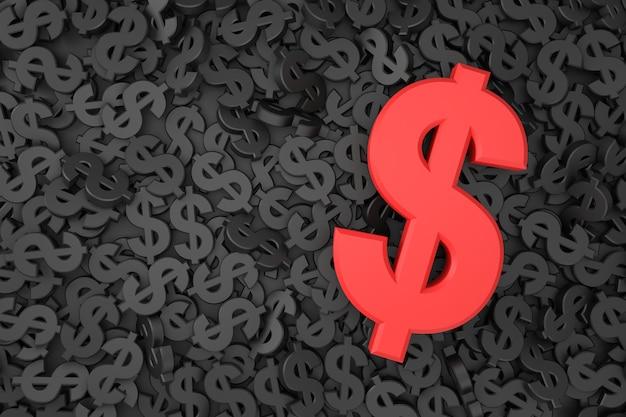 Dollarteken banner in 3d-rendering Premium Foto