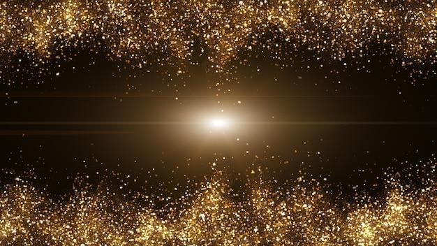 Donkerbruin met kleine deeltjes verzameld in lichtgolven goudgeel. Premium Foto