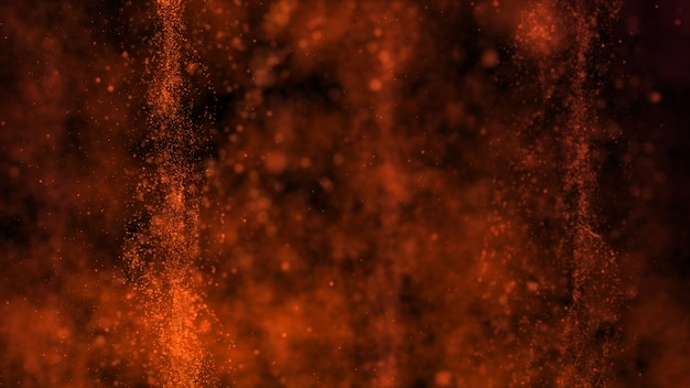 Donkerbruine achtergrond, heet als vlammen en gebieden met diepe dieptes. Premium Foto