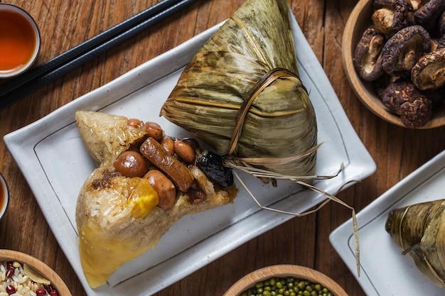 Dragon boat festival rijst dumplings Premium Foto