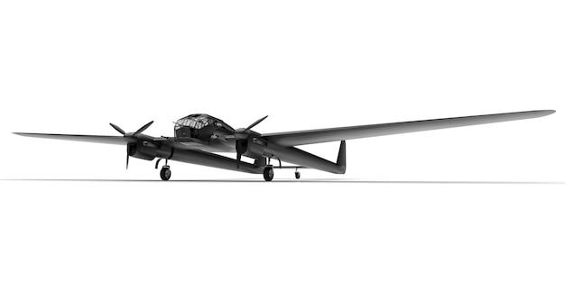 Driedimensionaal model van het bommenwerpersvliegtuig van de tweede wereldoorlog Premium Foto