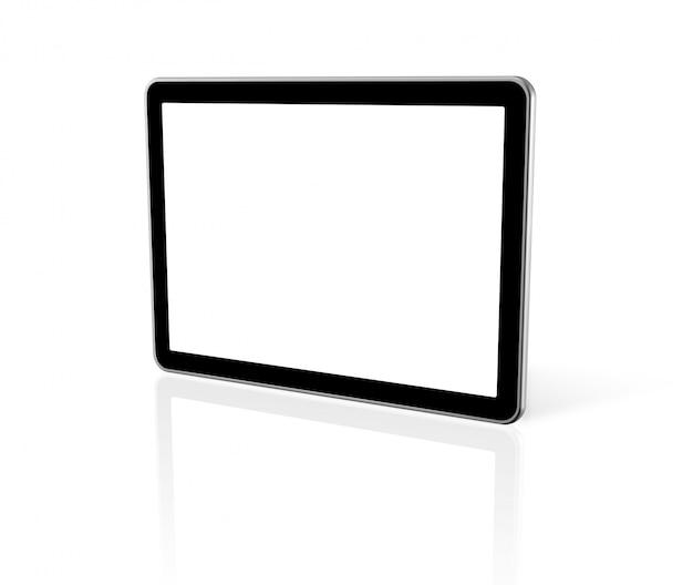 Driedimensionale computer, digitale tablet-pc, tv-scherm Premium Foto