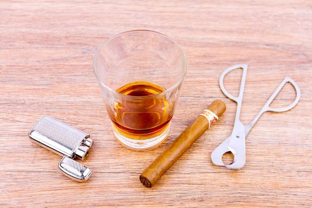 Drinken en roken Premium Foto