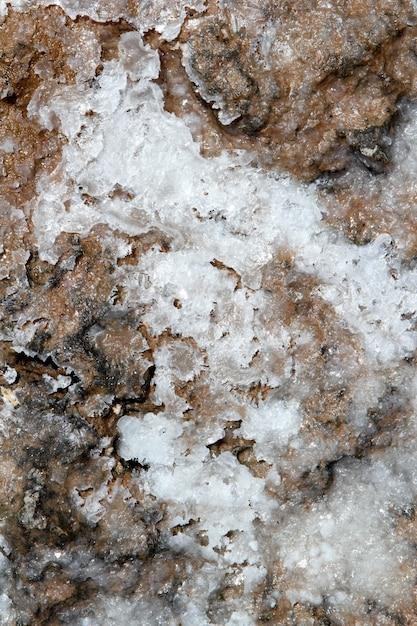 Droog zout op de mariene achtergrond van de vloertextuur Premium Foto