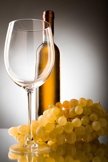 Druiven wijnglas Premium Foto