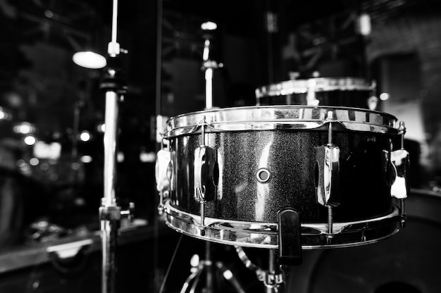 Drumstel en drumstokken Premium Foto