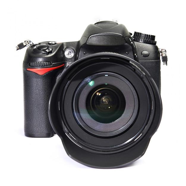 Dslr zwarte camera Premium Foto