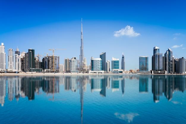 Dubai binnenstad Premium Foto