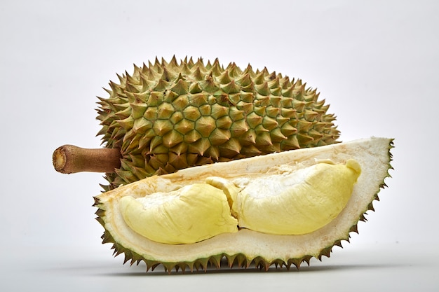 Durian staat bekend als king of friut in thailand Premium Foto