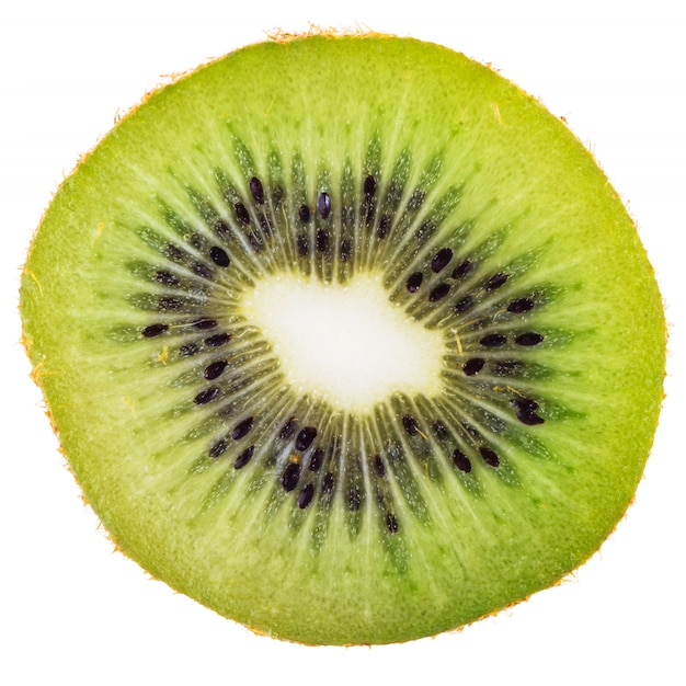 Dwarsdoorsnede van rijpe geïsoleerde kiwi Gratis Foto