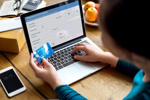 E-bankieren betaling financiële website verbinding Premium Foto