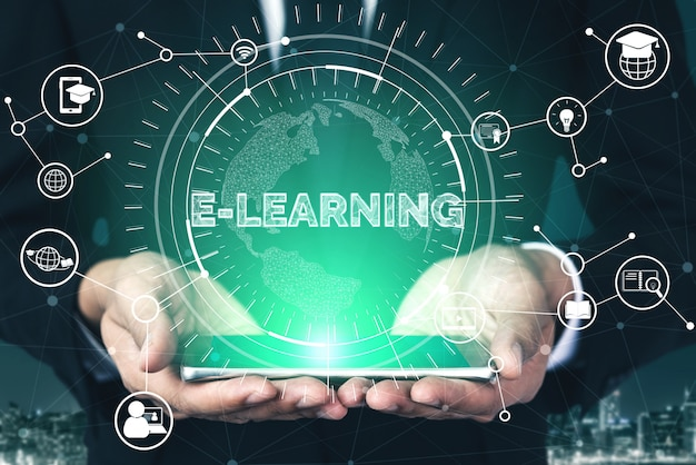 E-learning voor studenten en universiteiten Premium Foto