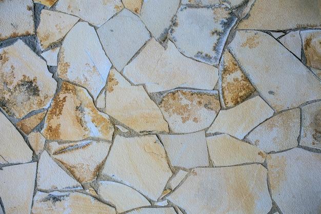 Echte stenen muur textuur fotografie Premium Foto