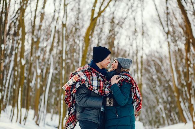 Echtpaar in de winter Gratis Foto