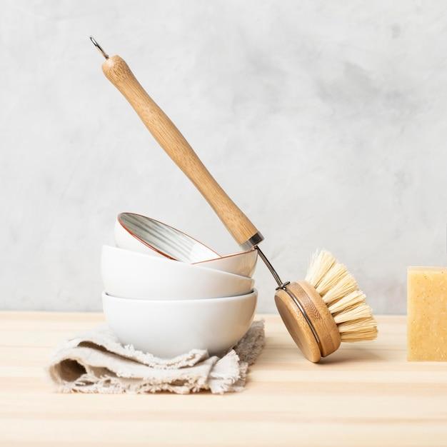 Eco-reinigingsproducten voor huidverzorging Premium Foto