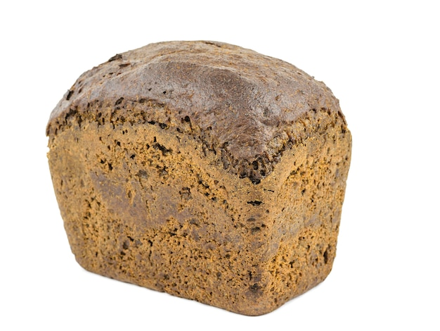 Een brood van grof meelbrood met geïsoleerde zemelen en graangewassen. het product van granen die gunstig zijn voor de gezondheid. Premium Foto
