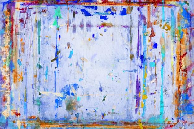 Een houten tablet of kunstenaarsbord is gekleurd met verf. Premium Foto
