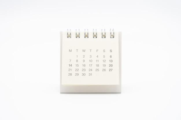 Een kalender van de maand. Premium Foto