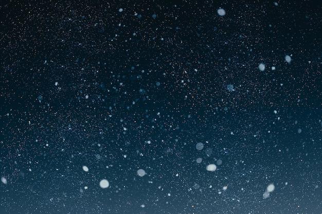 Een kerstnachthemel Premium Foto