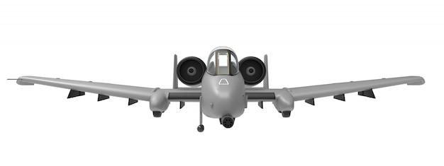 Een klein militair vliegtuig Premium Foto