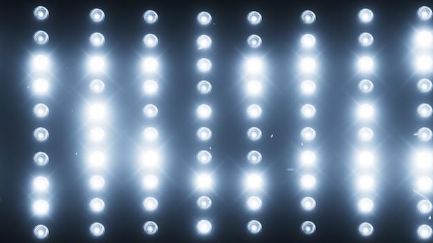 Een muur van lichtprojectoren Premium Foto