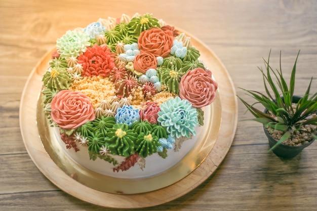 Een prachtige taart als feest Premium Foto