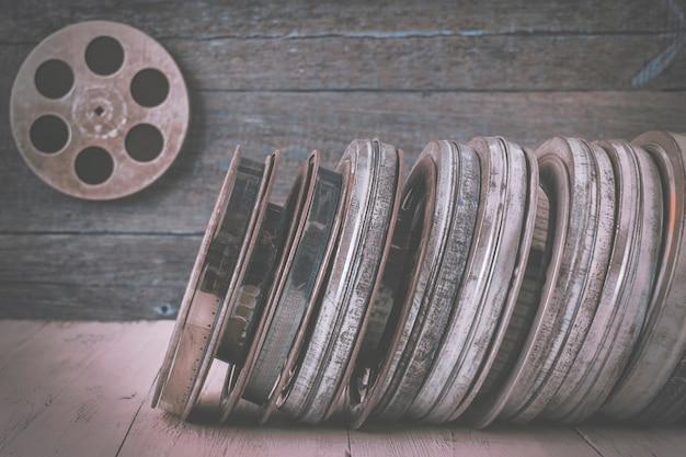 Een stapel oude films Premium Foto