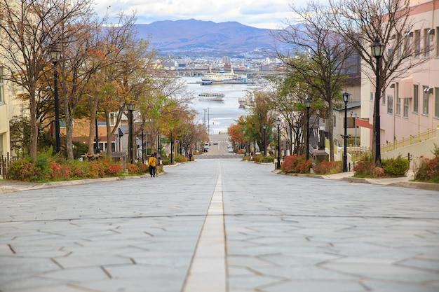 Een van de beroemde plaatsen in hakodate hokkaido, japan. een van de beroemde plekken in japan. Premium Foto