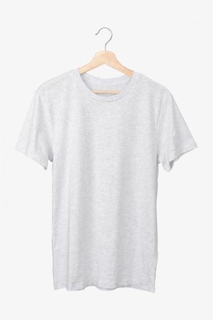 Eenvoudig grijs t-shirt op een hanger Premium Foto