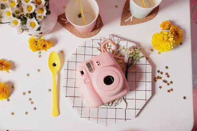 Eettafel decoratie ideeën voor verjaardagsfeestje Premium Foto