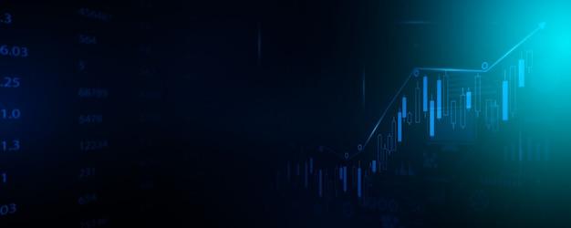 Effectenbeurs bedrijfstechnologie communicatie conceptenachtergrond Premium Foto