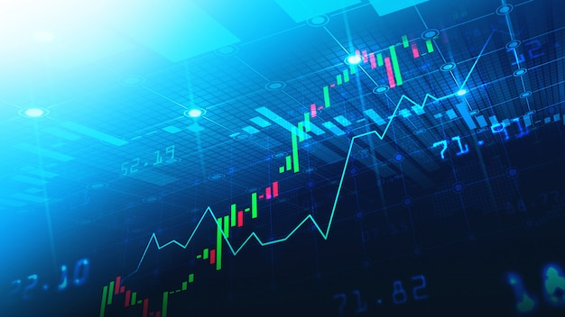 Effectenbeurs of forex trading grafiek in grafisch concept Premium Foto