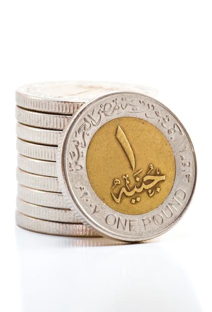 Egyptische pondmunten Premium Foto