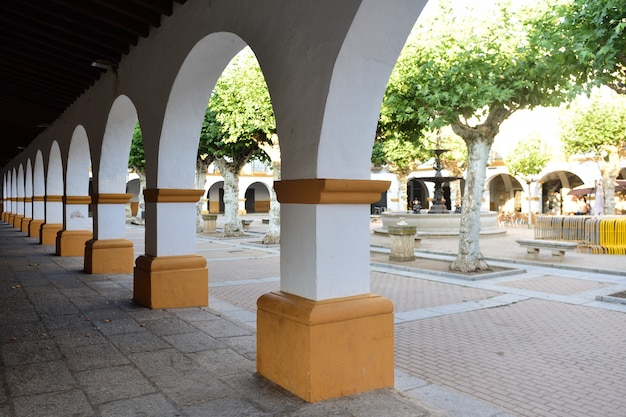 El buen alcade square van ciudad rodrigo, salamanca province, castilla leon, spanje Premium Foto