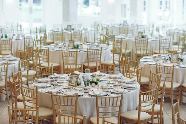Elegante bruilofttafels Gratis Foto