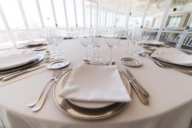 Elegante tafel bij fijn restaurant Premium Foto