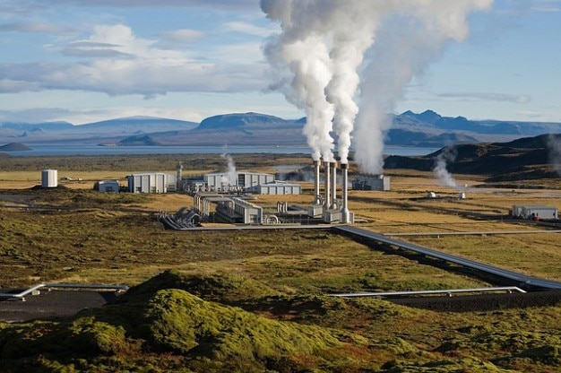 Energiecentrale macht geothermische Gratis Foto