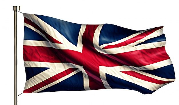 Engeland britse nationale vlag geïsoleerde 3d witte achtergrond Gratis Foto
