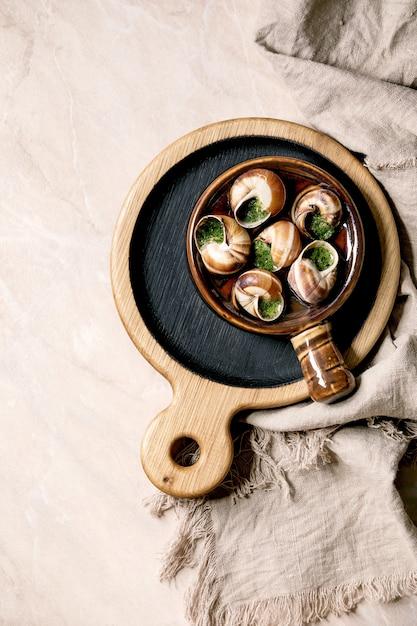 Escargots de bourgogne Premium Foto
