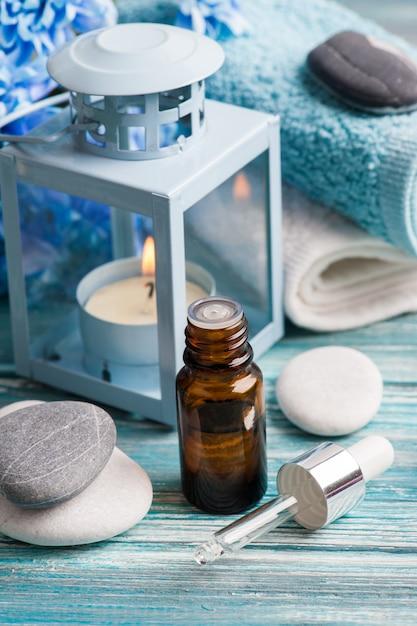 Etherische olie spa-behandeling Premium Foto